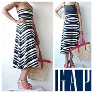 NWOT - GAP Black & Cream Striped Dress/Skirt